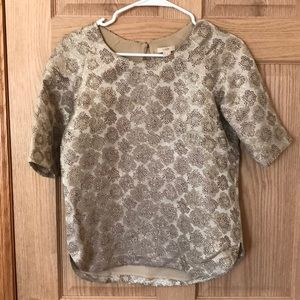 J. CREW brocade/metallic shirt.